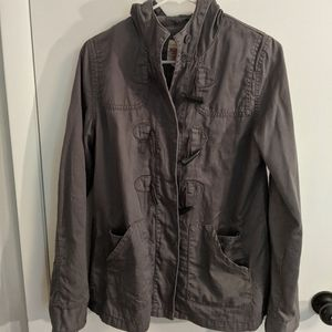Mossimo m gray spring/fall hooded jacket